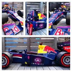 You may need to start this one now for next year - a Red Bull F1 car made out of cardboard!