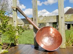 Vintage French Copper Pan. BIG. Antique by AngelFrenchAntiques