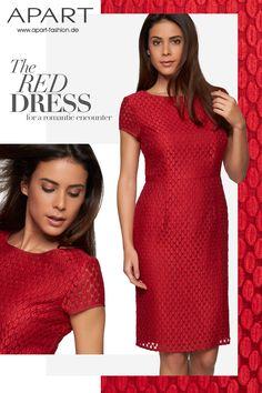 Zum roten Kleid: http://www.apart-fashion.de/kleider/kurze-kleider/27386-etuikleid.html   #apart #apartfashion #rotes_kleid #etuikleid