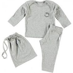 T-Shirt à manches longues et pantalon - Melé Grey