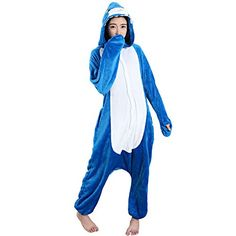 TouteSporting Animal Onesie Adult Pajamas Blue Shark XL >>> Find out more about the great product at the image link-affiliate link #HalloweenCostumes