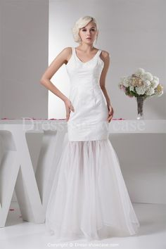 White Sleeveless Floor-Length Homecoming Dress -Special Occasion Dresses prom dresses online -  #style -  wedding party dresses