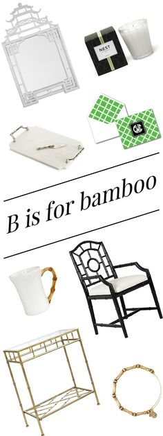 B IS FOR BAMBOO