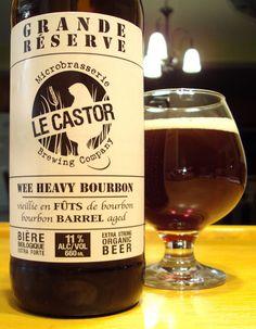 Wee Heavy Bourbon - Microbrasserie Le Castor via craftbeerquebec.ca…