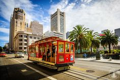 Cable Car am Union Square in San Francisco