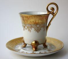 Mokkatasse Espresso-Tasse festlicher Triumphzug DW Karlsbader Manufaktur Böhmen | eBay