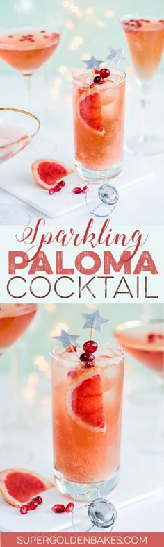 Sparkling Paloma and French Kiss – New Year's Eve cocktails