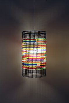 lampshade of straws...do it with colorful vellum paper
