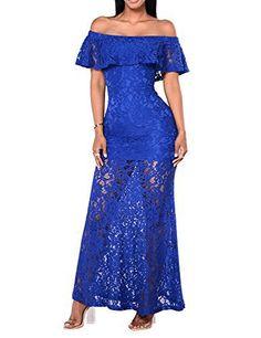 Lace Bodycon Dress- Sexy Women Off Shoulder Maxi Dress, Floral Lace Vintage Long Dress With Size S, M, L, XL.