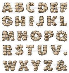 Descargar - Alfabeto de piedra — Imagen de stock #3071091