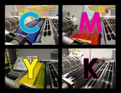 CMYK Ink in Offset Press Wells