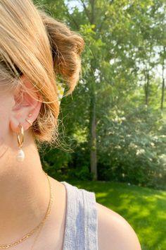 Fall Jewelry, Trendy Jewelry, Summer Jewelry, Etsy Earrings, Pearl Earrings, Hoop Earrings, Bridesmaid Earrings, Bridesmaids, Dainty Gold Jewelry