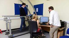 Gait Analysis on treadmill. on an instrumented treadmill
