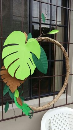 Party im Dschungel # # . - Party im Dschungel # # … – - Jungle Book Party, Jungle Theme Parties, Jungle Theme Birthday, Dinosaur Birthday Party, Safari Theme Party, Animal Birthday, Party Animals, Animal Party, Jungle Decorations