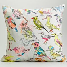 Picturebook Johannesburg Garden Birds - My Favourite Colour Surface Design Textiles, Textile Patterns, Textile Design, Fabric Design, Pattern Design, South African Design, Bird Pillow, Little Presents, Scatter Cushions