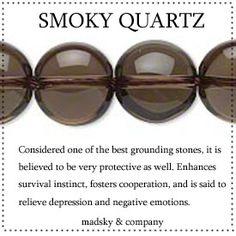 smokey quartz mala beads
