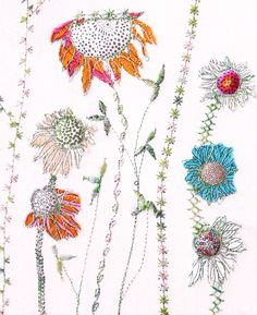 ♒ Enchanting Embroidery ♒ Bev Holmes-Wright | Appliqué and free-machine embroidery