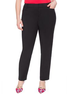 Kady Fit Double-Weave Pant from eloquii.com