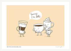 Sorry bin ich Latte Kunstdruck von ilovedoodle auf Etsy