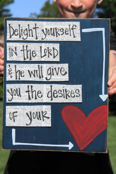 Delight in the Lord handmade card by SlightImperfections on Etsy, $13.95