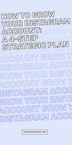 Grow your Instagram account and get new followers with these four easy steps. Yes, I said easy. But they still take work! Consistently posting to Instagram with fresh content is only one of the ways to grow. These four tips will help your Instagram engagement, build your Instagram followers count, and generate sales of your online course for your business. #Instagramtips #Instagramhacks  #Instagram101 Instagram Tips, Instagram Accounts, Facebook Ads Manager, Strategic Planning, Advertising Campaign, Growing Your Business, Followers, Accounting, Content