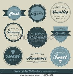 stock vector : Vector Retro Label Collection