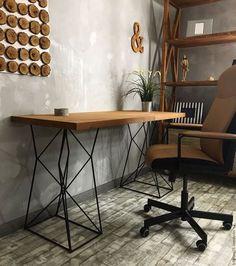 Мебель ручной работы. Письменный стол RANGER.. 24_7MAGAZIN. Ярмарка Мастеров. Дизайнерский стол, мебель в стиле лофт, металл