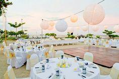 Our bali wedding on the beach. Jamaica Wedding, Sunset Wedding, Bali Wedding, Destination Wedding, Wedding Venues, Plan Your Wedding, Wedding Ideas, Tropical Wedding Decor, Wedding Decorations