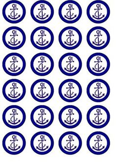 24 Anchor Nautical Sea Edible Wafer Rice Paper Cupcake Bun Fairy Cake Toppers | eBay Nautical Cupcake, Nautical Party, Paper Cupcake, Cupcake Cakes, Anchor Cakes, Anchor Wallpaper, Edible Printing, Paper Roses, Homemade Cakes