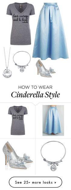 """Cinderella"" by musicislifebug on Polyvore featuring Jimmy Choo and Disney"