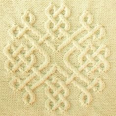 Ravelry: Celtic Snowflake (#30) pattern by Devorgilla's Knitting-good idea for a cushion @Afshan Sayyed Shahid
