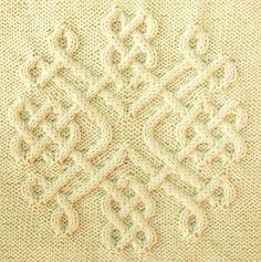 Ravelry: Celtic Snowflake (#30) pattern by Devorgilla's Knitting-good idea for a cushion @Afshan Sayyed Shahid