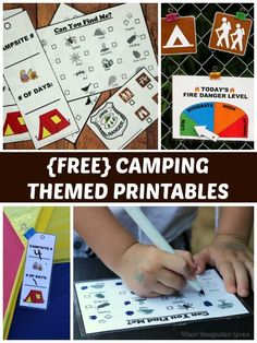 Dramatic play printables for camping themed learning! #Camping