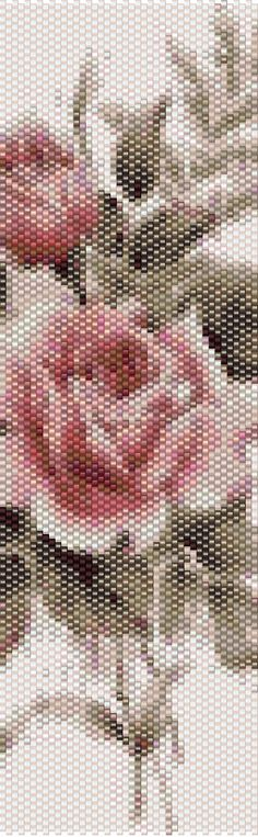 Peyote Pattern - Floral 1 di TheAbstractBeader su Etsy https://www.etsy.com/it/listing/499594337/peyote-pattern-floral-1