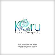 koru_floral_logo Made by LDNZ Floral Logo, Floral Design, Business Company, Company Logo, Graphic Design Services, Logo Design, Popular Logos, Color Balance, Modern Logo