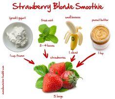 Strawberry Blonde Smoothie… enjoy!  http://mueslimuncher.tumblr.com/post/22598014290/strawberry-blonde-smoothie-enjoy