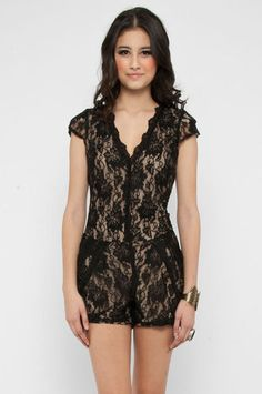 Lacey  Romper in Black $68 at www.tobi.com