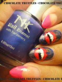 #ChocolateTrufflesNails #Nails #NailArt #NailDesign #NeonNails #Neon #FrenchNails #ChalkboardNails #DistressedNails #Lips