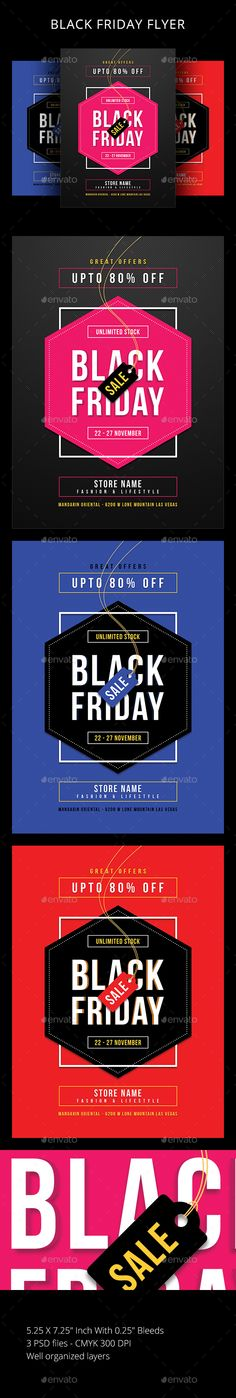 Buy Black Friday by sunilpatilin on GraphicRiver. Black Friday Flyer Black Friday Flyer is designed for all kind of events! The flyer is fully layered and organized to. Blak Friday, Ad Design, Design Posters, Flyer Design, Graphic Design, Text Tool, Event Flyer Templates, Event Flyers, Sale Flyer