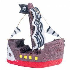 Piratenschip piñata voor een piratenfeestje