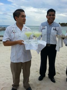 Drinks and canopies flew all day