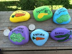 custom hand painted garden stones rock art by crjuenemann on etsy 800