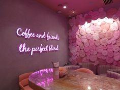 Inside London's New Love Hearts Cafe Bakery Interior, Coffee Shop Interior Design, Salon Interior Design, Coffee Shop Design, Cafe Design, Store Design, Beauty Room Decor, Beauty Salon Decor, Bolo Macaron