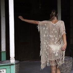 "Singkankan kaftan in sand $89 soft handmade pure cotton shaggy bohemian luxe  model @lucetteromy  photographer  @joshhedge"" andi_bagus"