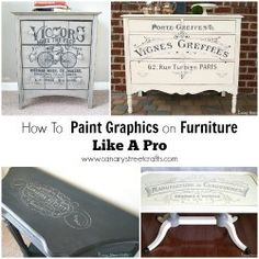 FURNITURE MAKEOVERS - Canary Street Crafts