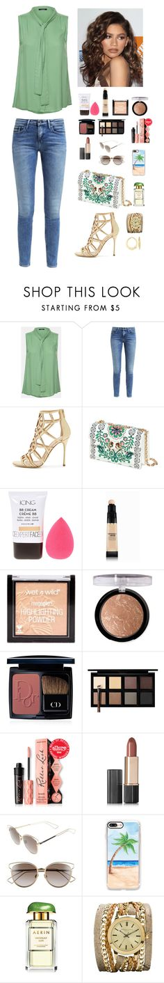 """Untitled #1395"" by azra-99 ❤ liked on Polyvore featuring Calvin Klein, Sergio Rossi, Tory Burch, Coleman, Forever 21, Christian Dior, Down to Earth, Estée Lauder, Casetify and Sara Designs"