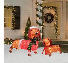 Christmas Dachshund Sausage Dog Set of 2 Light up Wiener Dogs Outdoor Decoration Set Yard Decor Gemmy http://www.amazon.com/dp/B00O6MID16/ref=cm_sw_r_pi_dp_EclJwb14AJ7PR