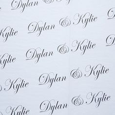 Wedding Monogram Personalized White Tissue Paper-Large
