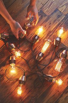 Market lights by Urban Outfitters