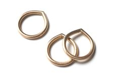 I love these droplet rings by Megan Auman